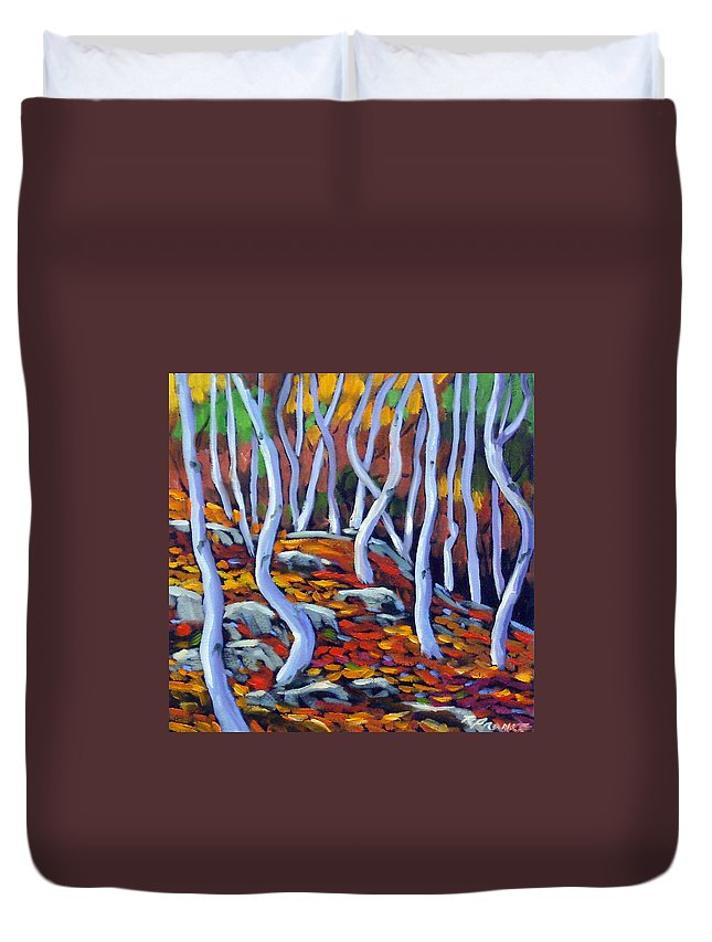 Art Duvet Cover featuring the painting Fantaisie No 6 by Richard T Pranke