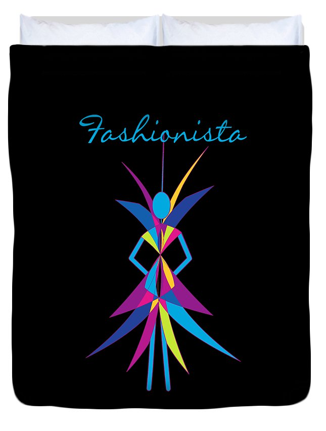 Fashionista Duvet Cover featuring the digital art Fashionista by Methune Hively