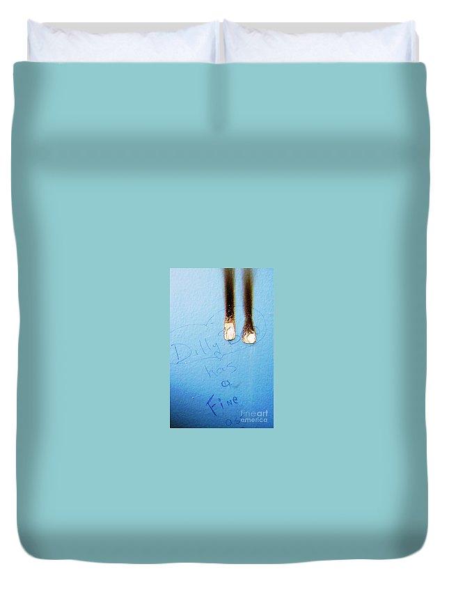 Photograph Fine Ass Blue Duvet Cover featuring the photograph Fine Ass by Seon-Jeong Kim