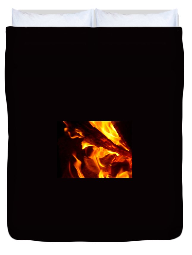 Flame Duvet Cover featuring the photograph Flame by Joanna Aud