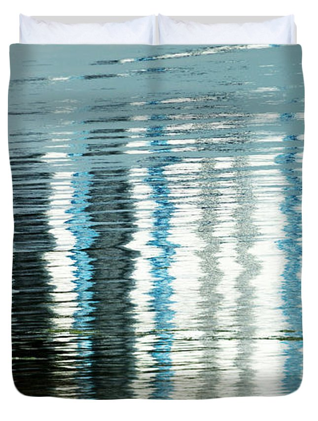 Wendy Duvet Cover featuring the photograph Floating On Blue 45 by Wendy Wilton