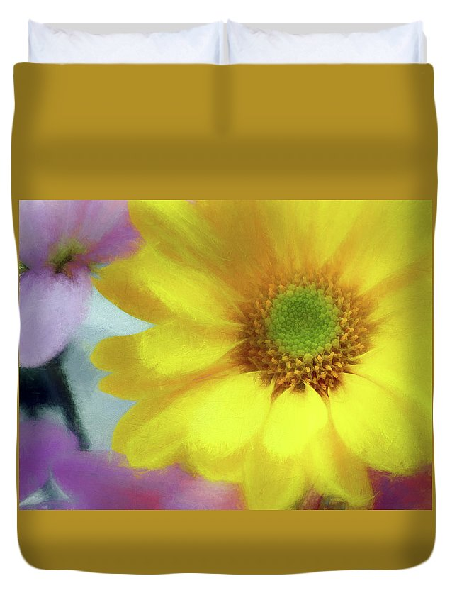 Flowers Duvet Cover featuring the photograph Floral Art Cxii by Tina Baxter