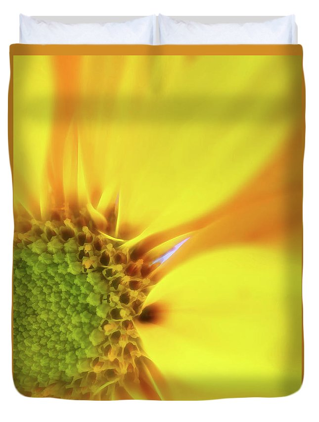 Flowers Duvet Cover featuring the photograph Floral Art Cxiii by Tina Baxter