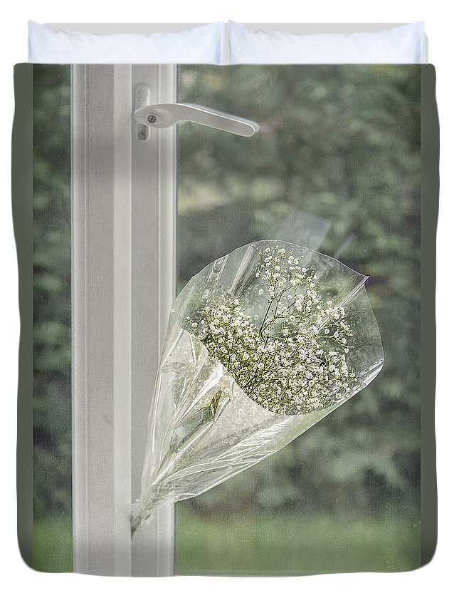 Anniversary Duvet Cover featuring the photograph For You by Svetlana Sewell