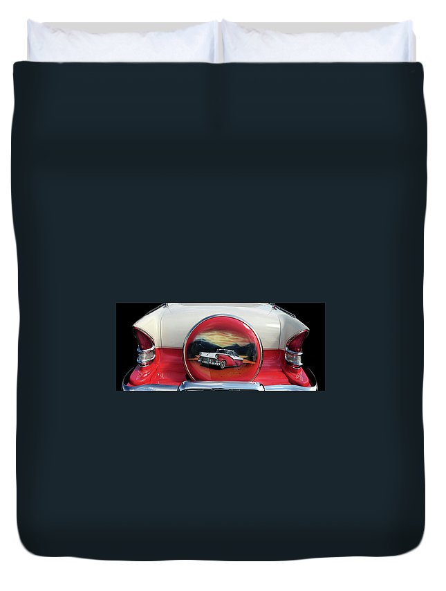 Ford Duvet Cover featuring the photograph Ford Fairlane Rear by Dave Mills