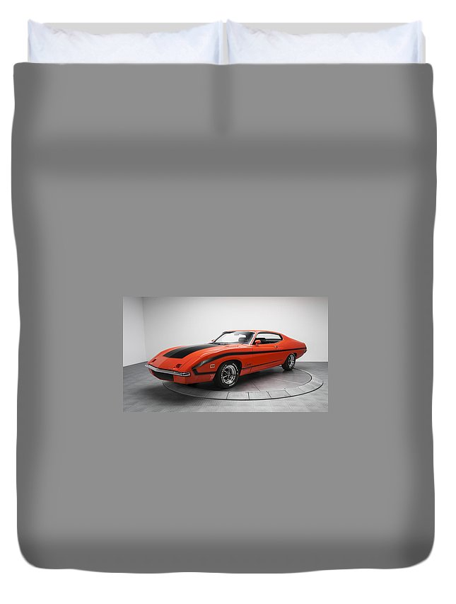 Ford Torino Duvet Cover featuring the digital art Ford Torino by Dorothy Binder
