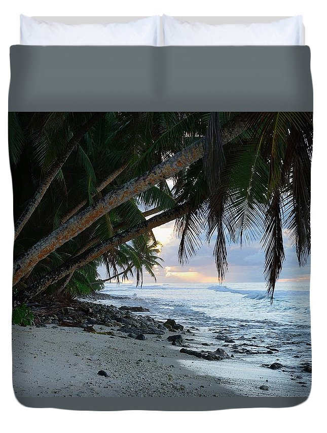 Blue Duvet Cover featuring the photograph Forest Beach by Michael Scott