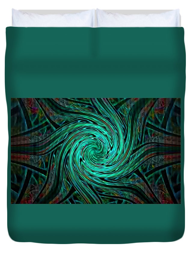 Announcement Duvet Cover featuring the painting Fractalia Seastaria Catus 1 No. 3 H A by Gert J Rheeders