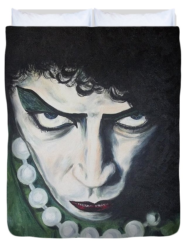 Duvet Cover featuring the painting Frankie by Deana Smith