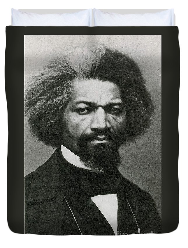History Duvet Cover featuring the photograph Frederick Douglass, African-american by Photo Researchers