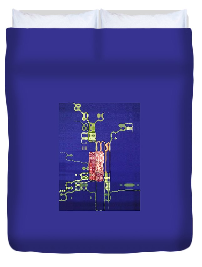 Blue Duvet Cover featuring the photograph Future Flower 1 by Tom Reynen