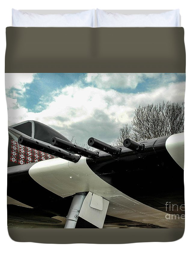Republic Duvet Cover featuring the photograph Gabby's P-47 by Tommy Anderson