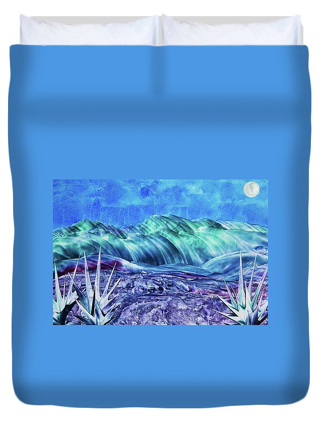 Encaustic Duvet Cover featuring the painting Gallup by Melinda Etzold