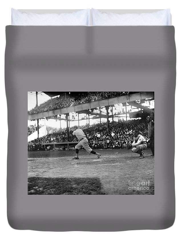 1921 Duvet Cover featuring the photograph George H. Ruth (1895-1948) by Granger