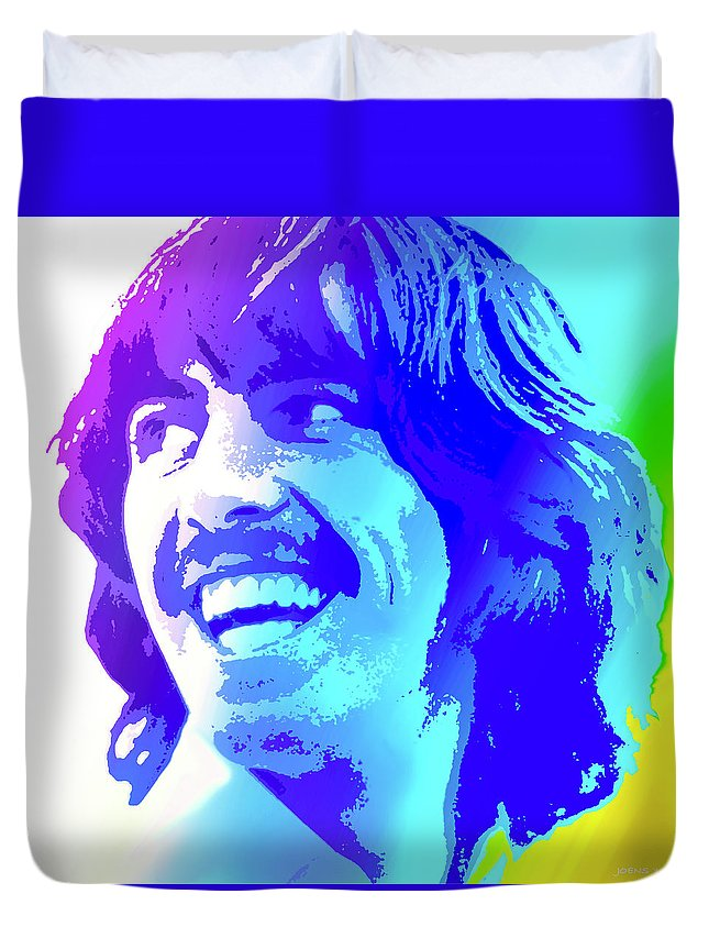 George Harrison Duvet Cover featuring the digital art George Harrison by Greg Joens