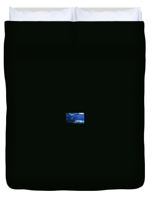 Hammerhead Duvet Cover featuring the digital art Giver Of Life 2 William Schimmel by Eloisa Mannion