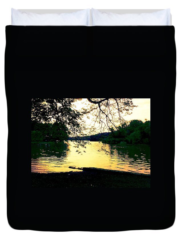 Landscape Duvet Cover featuring the photograph Golden Days by Kendall Eutemey