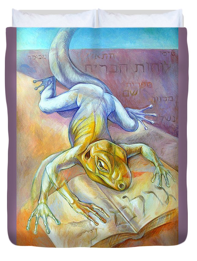 Surreal Duvet Cover featuring the painting Golem by Filip Mihail