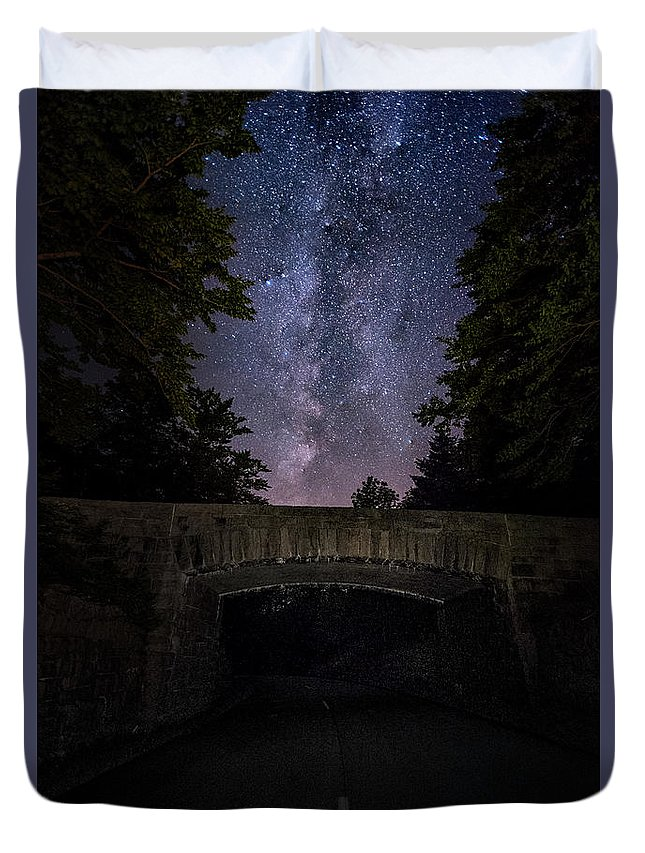 Maine Duvet Cover featuring the photograph Goodnight Acadia by Robert Fawcett