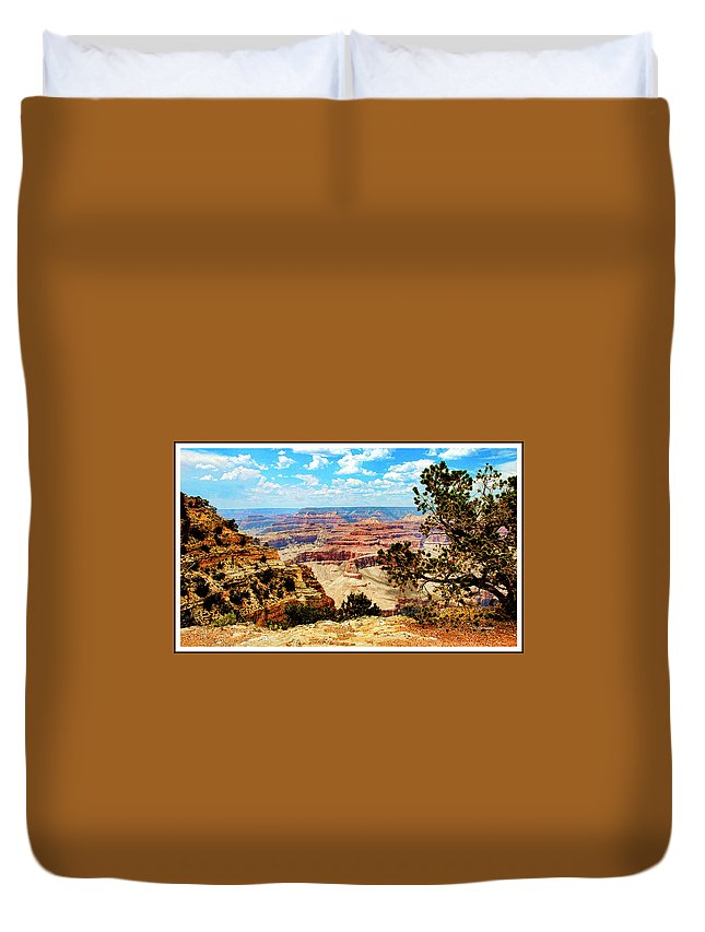 Grand Canyon Duvet Cover featuring the photograph Grand Canyon Scenic by A Gurmankin