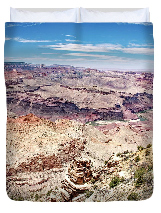 Grand Canyon National Park Duvet Cover featuring the photograph Grand Canyon View From The South Rim, Arizona by A Gurmankin