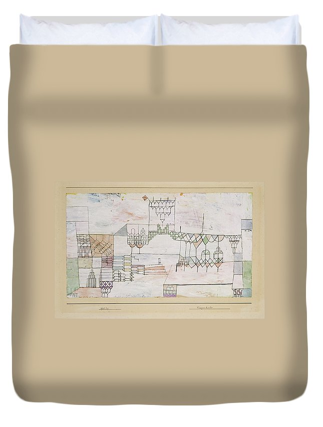 Paul Klee Great Hall For Singers Duvet Cover featuring the painting Great Hall For Singers by Paul Klee