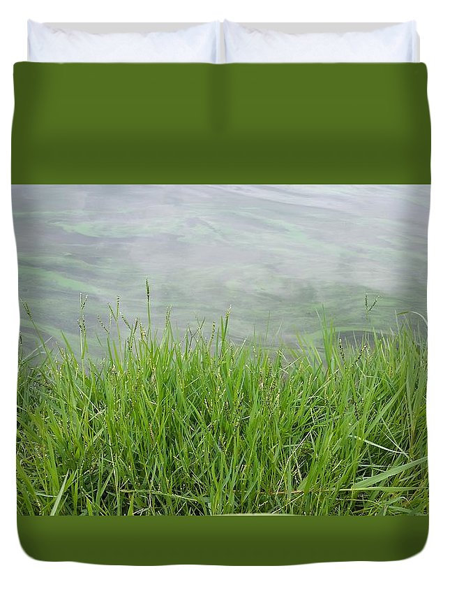 Green Duvet Cover featuring the photograph Grass by Brant Safrit