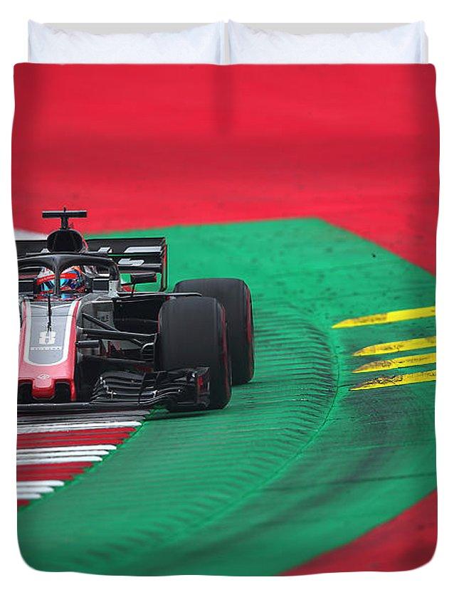 Haas Formula 1 team Duvet Cover