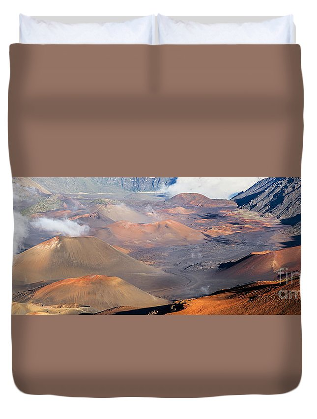 Haleakala Duvet Cover featuring the photograph Haleakala Crater by Mariusz Blach