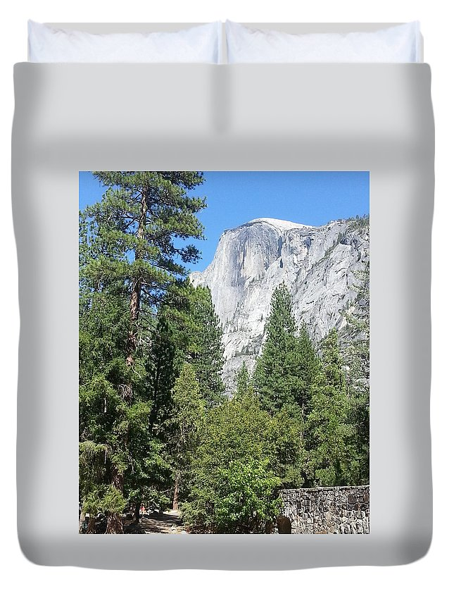 Half Dome Duvet Cover featuring the photograph Half Dome by Derek Ryan Jensen