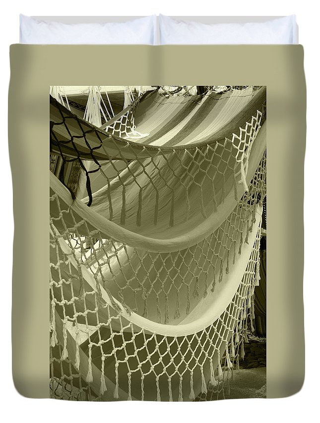 Hammock Duvet Cover featuring the photograph Hammocks In The Market by Robert Hamm