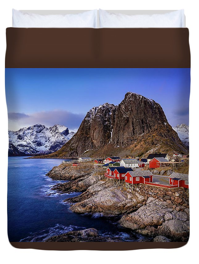 Hamnoy Duvet Cover featuring the photograph Hamnoy Classic by Brad Rempel