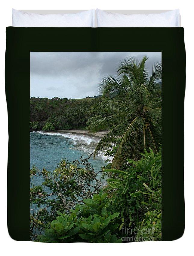 Aloha Duvet Cover featuring the photograph Hamoa Beach Maui Hawaii by Sharon Mau