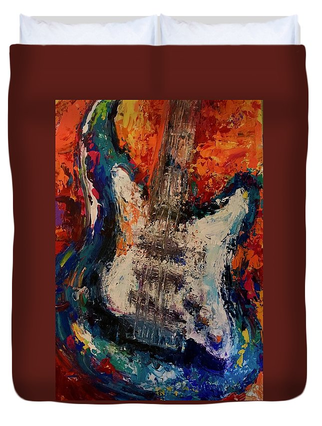 Duvet Cover featuring the painting Hands On by Heather Roddy
