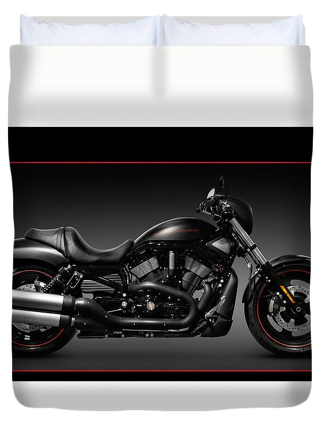 Harley Duvet Cover featuring the photograph Harley Davidson Vrscd Night Rod Special by Oleksiy Maksymenko