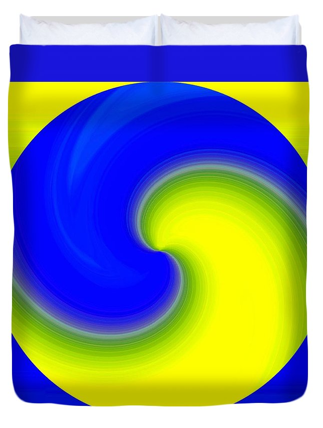 Abstract Duvet Cover featuring the digital art Harmony 22 by Will Borden