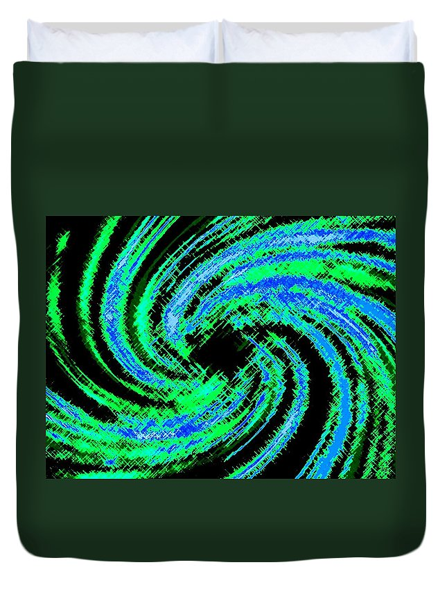 Abstract Duvet Cover featuring the digital art Harmony 24 by Will Borden