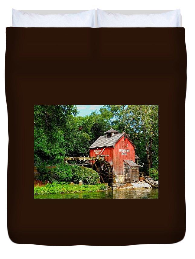 Harper's Mill Duvet Cover featuring the photograph Harper's Mill by Rachel Kaufmann
