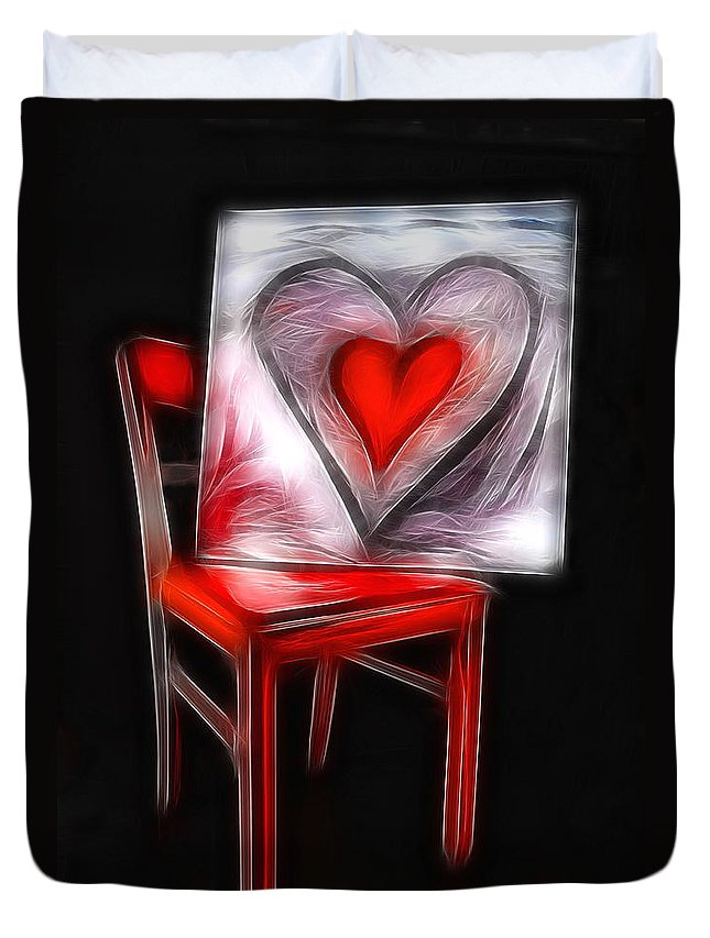 Heart Duvet Cover featuring the photograph Heart Int Heart by Manfred Lutzius