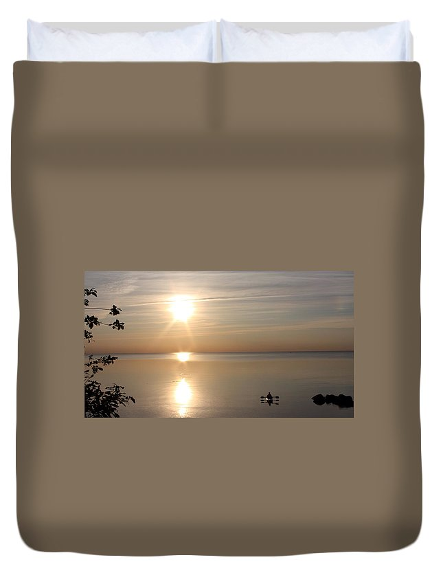 Kayak Duvet Cover featuring the photograph Heavenly Kayak by Pat Purdy