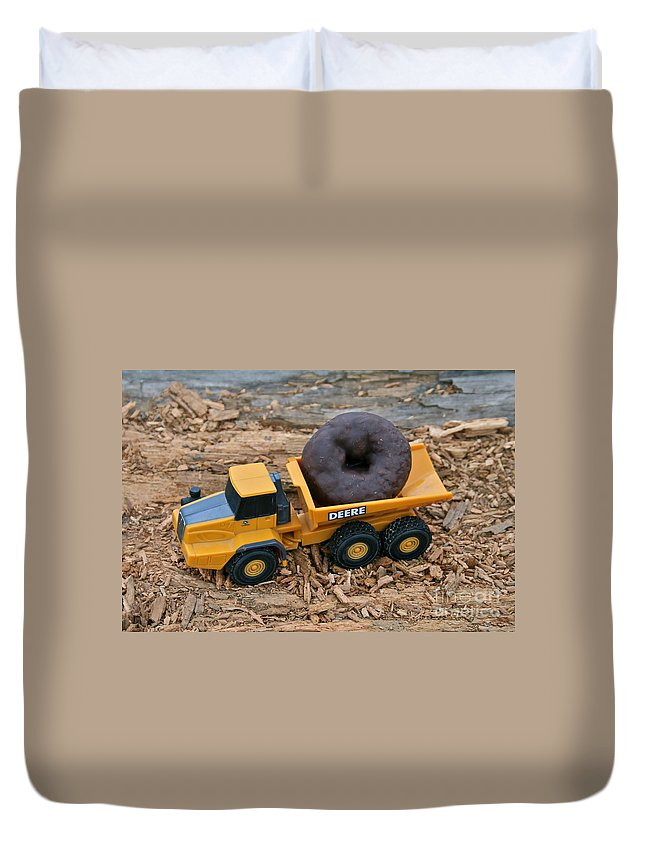 Truck Duvet Cover featuring the photograph Heavy Load by Rick Monyahan