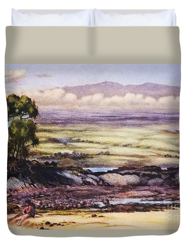 1929 Duvet Cover featuring the painting Helen Dranga Art by Hawaiian Legacy Archive - Printscapes