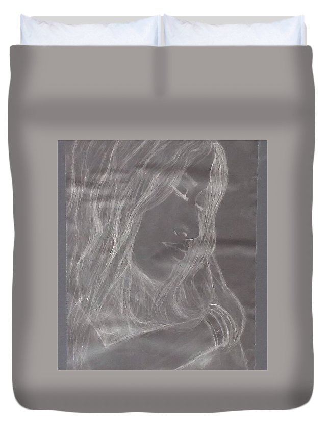 Duvet Cover featuring the photograph HER by Christopher