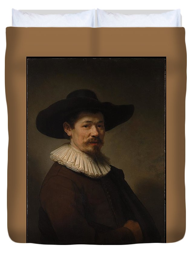 Rembrandt Herman Doomer Born About 1595 Died 1650 Duvet Cover featuring the painting Herman Doomer Born About 1595 Died 1650 by Rembrandt