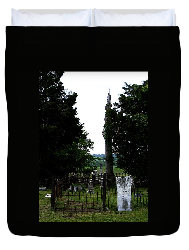 Landscape Duvet Cover featuring the photograph Heroes Of Olmsted by Rachel Christine Nowicki