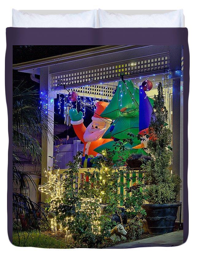 Christmas Duvet Cover featuring the photograph Ho, Ho, Ho by Michael Gordon