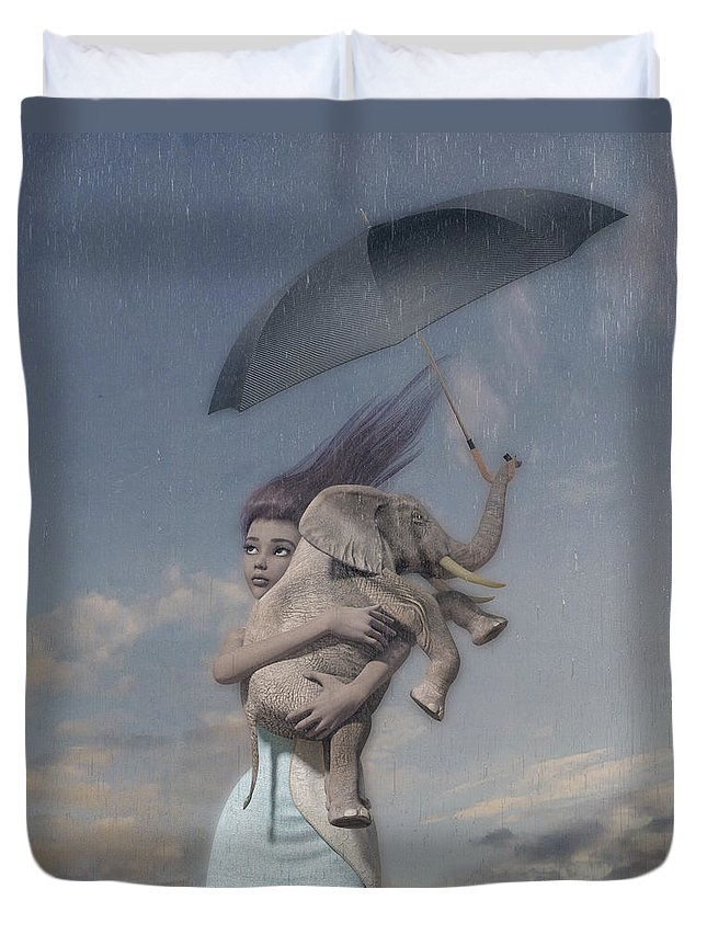 Surreal Duvet Cover featuring the digital art Hope by Betsy Knapp
