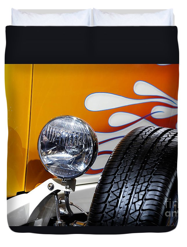 Hot Rod Duvet Cover featuring the photograph Hot Rod Ford Hi-boy Coupe 1932 by Oleksiy Maksymenko