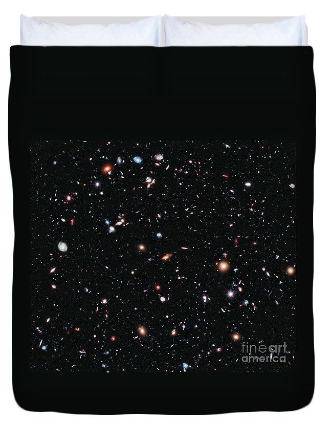 Hubble Ultra Deep Field Duvet Cover featuring the photograph Hubble Extreme Deep Field 1 by Nasa