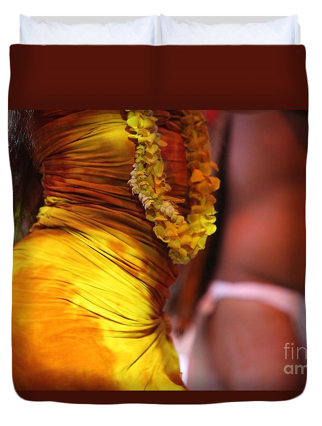 Dance Duvet Cover featuring the photograph Hula Dancers by Nadine Rippelmeyer